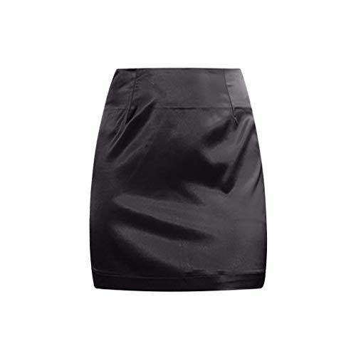 6e781e27e4 Women Skirts, POTO Womens Ladies Sexy Satin Smooth Zipper Skirt Fashion  Solid Bodycon Wrap Mini