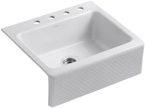 Kohler K-14571-T3-W2 Evenweave Design on Alcott Tile-In Sink, Earthen White
