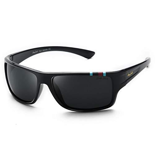 GREY JACK TR90 Polarized Sports Sunglasses for Men Women UV400 Protected 1230