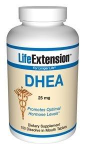 Life Extension DHEA, comprimés de 25 mg, 100-Comte