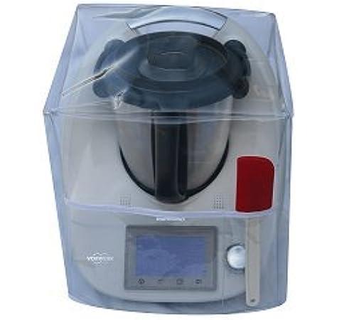 Ma Belle Housse – Funda de protección para Thermomix TM5/TM31 transparente sin Varoma sesgo blanco: Amazon.es: Hogar