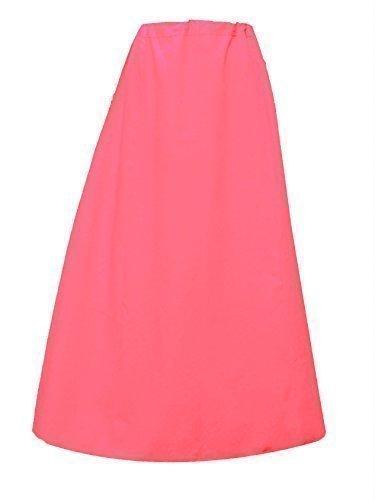 Damen Indian Saree Baumwolle fertige Unterrock oder genäht Unterrock in einer Größe 022 Rosa