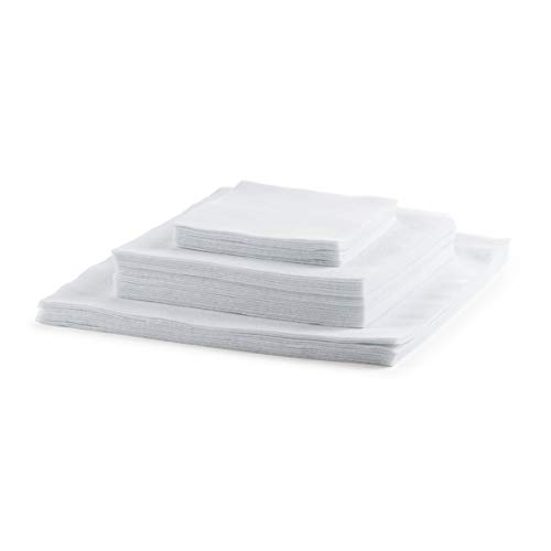 "Felt Plate China Storage Square Dividers Protectors White Extra Large Thick and Premium Soft Set Of 48 12-10.5"", 24-7.5"", 12-5"" (48, Square)"