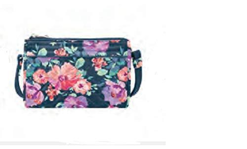 Travelon Wristlet (Travelon Anti-Theft Boho Clutch Crossbody Cross Body Bag, blossom Floral, One Size)