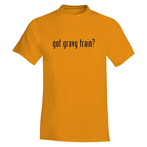 - The Town Butler got Gravy Train? - A Soft & Comfortable Men's T-Shirt, Gold, X-Large