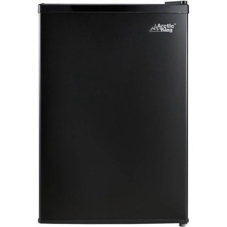 Arctic King 2.6 cu ft 1-Door Compact Refrigerator | Adjustable Legs for Leveling, Black