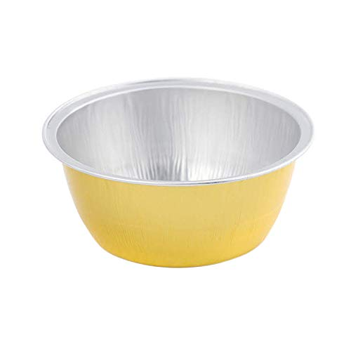 KitchenDance Disposable Aluminum 4 oz. Ramekins- Color & Lid Options Pack of 100 (Without Lids, Gold)