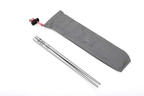Keith Titanium Ti5634 Portable Solid Square Handle Chopsticks