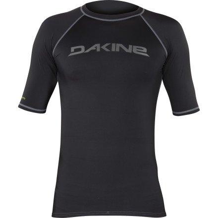 DAKINE Heavy Duty Rashguard - Short-Sleeve - Men's Black, - Heavy Rash Duty Guard