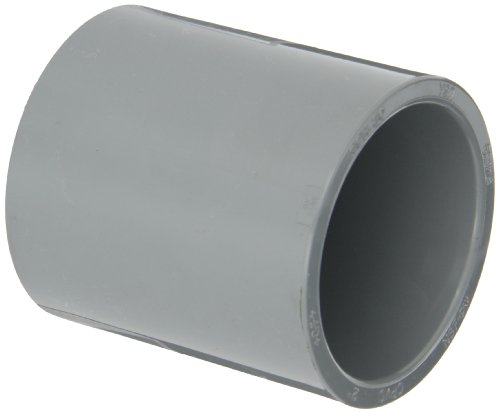 """GF Piping Systems CPVC Pipe Fitting, Coupling, Schedule 80, Gray, 2"""" Slip Socket"""