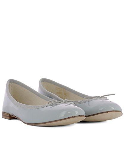 Repetto Damen V086V1159 Silber Leder Ballerinas