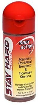 Body Action Stay Hard Erection & Stamina Enhancer Water Based Lubricant [Maintains Rockhard Erections and Increases Stamina ] : Size 2 Oz ()