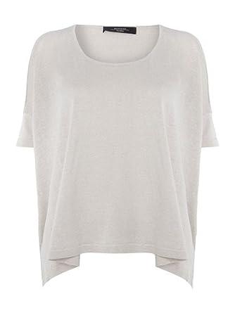 e1edc071fac9 Weekend MaxMara Dinar Jumper Silk Linen Sand Large RRP £145 (Large)   Amazon.co.uk  Clothing