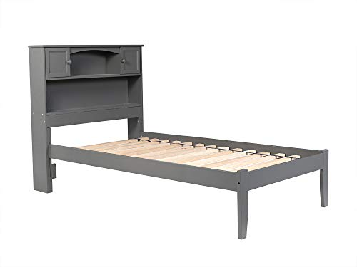 Atlantic Furniture AR8511009 Newport Platform Bed with Open Foot Board, Twin XL, Grey