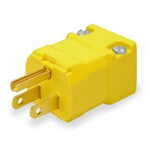 Hubbell HBL5666VY Valise Plug, 15 amp, 250V, 6-15P, Yellow