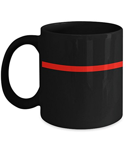 Firefighter Mug - Thin Red Line of Courage - Firefighters and First Responders - Firefighter Coffee Mug
