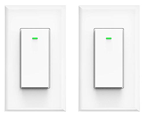Smart WiFi Light Switch,Work with Amazon Alexa, Google Home,Requires Neutral Wire, Remote Control, Timing Schedule, Easy Installation, No Hub Required.