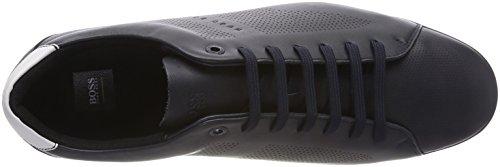 BOSS Athleisure Herren Saturn_Lowp_Lux Sneaker Blau (Dark Blue 401)