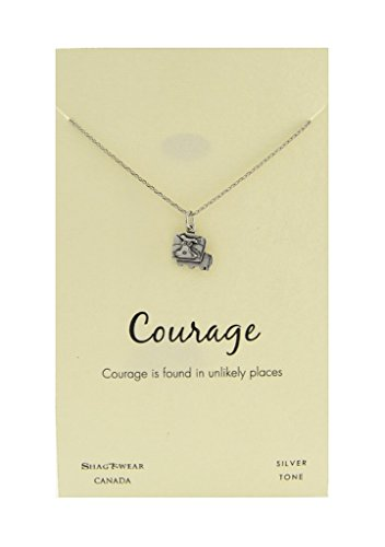 Price comparison product image Shagwear Favourite Animals Inspirations Quote Pendant Necklace (Courage,  Lion Pendant)