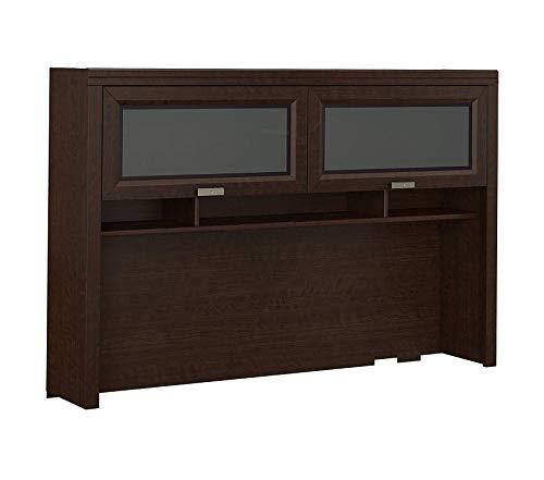 Mocha Desk Tuxedo L-shaped Cherry (Office Home Furniture Premium Hutch for L Shaped Desk in Mocha Cherry)