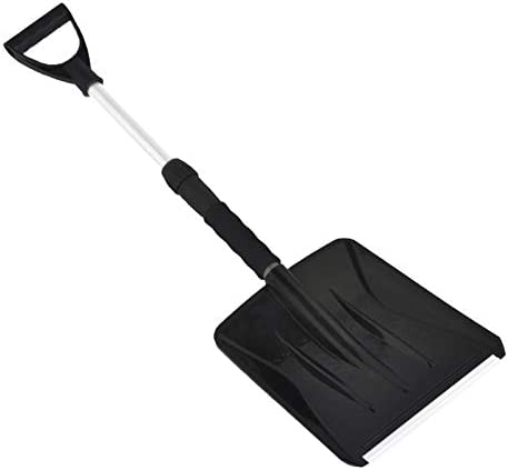 Snow Shovel With Telescopic Handle Telescopic Snow Shovel With Anti-Slip Foam Handle Warm Glove For Car Freezer, Heavy-Duty Winter Frost Removal Clean Tools For Car Auto SUV Scratch-Free, 1pack