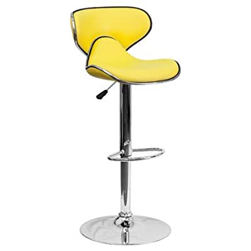 Amazon.com: Wade Logan Marlon Adjustable Height Bar Stool with ...