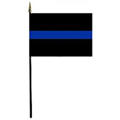 Wholesale Lot of 12 Police Thin Blue Line 4''x6'' Desk Table Flag BEST Garden Outdor Decor polyester material FLAG PREMIUM Vivid Color and UV Fade Resistant by Moon