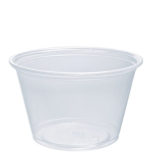 Dart 400PC 4 oz Clear PP Portion Container (Case of 2500)