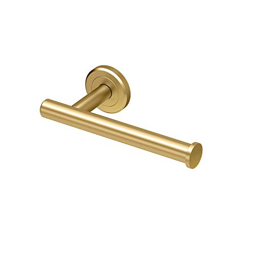 Gatco Latitude II Toilet Paper Holder, Brushed Brass - Holder Finish Toilet Paper
