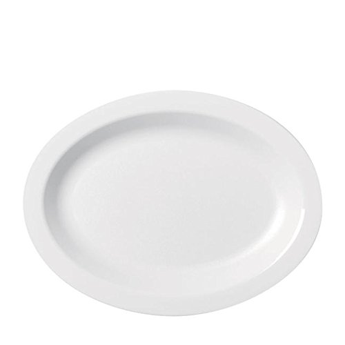 Oval Gourmet Plate - PLATE OVAL WHITE NR 9x12, CS 2/DZ, 11-0097 CAMBRO MANUFACTURING CO DINNERWARE AND BEVER