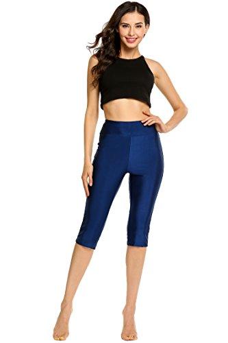 Zeagoo Water Pants Waterwear Waterskiing Wakeboarding Water Legging Women's Swim Capris Sun Protective, Blue, X-Large
