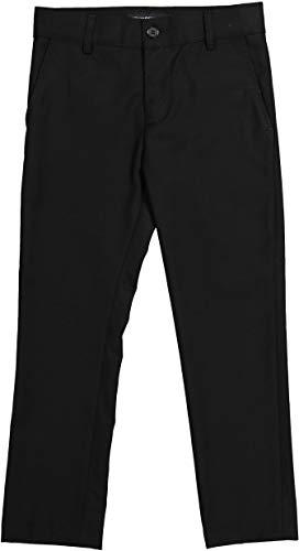Armando Martillo Boys Flat Front Adjustable Waist Slim Fit Dress Pants - Black, 8 Slim ()