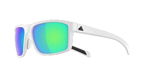 69581091cbdf adidas Whipstart Non-Polarized Iridium Rectangular Sunglasses, White Matte,  61 mm