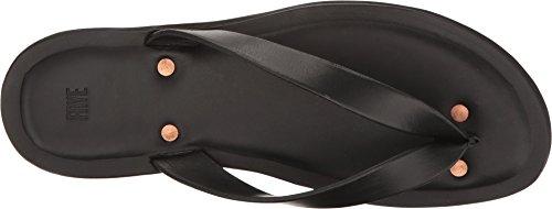 FRYE 88580 Men's Neil Thong Flat Sandal, Black, 10 D US