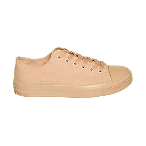 NEW STYLE!! Womens Classic Canvas Skate Sneaker Best Seller Nude iCASl