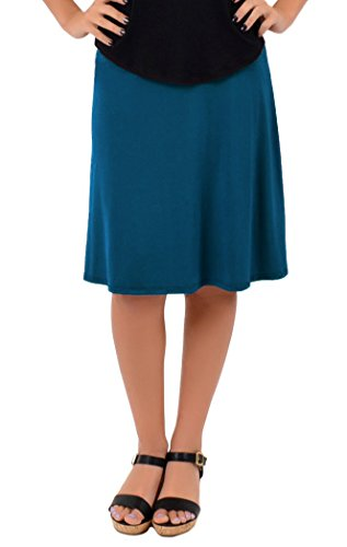Stretch is Comfort Women's A-Line Skirt Teal Medium