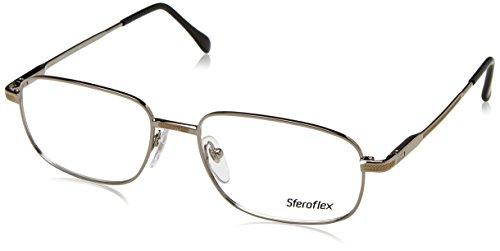 (Sferoflex SF 2086 Eyeglasses Styles Silver-Gold Frame w/Non-Rx 52 mm Diameter SF2086-131-52)