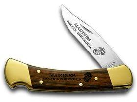 Buck 110 Folding Hunter Marines 1/500 Custom Pocket Knife Knives ()