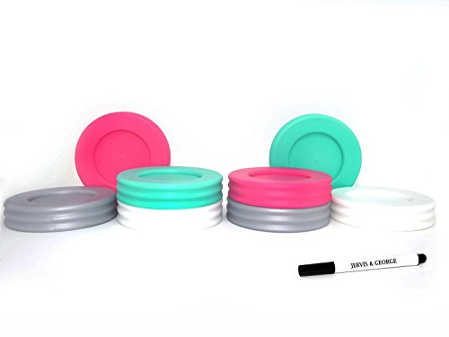 mason jars lids plastic - 8