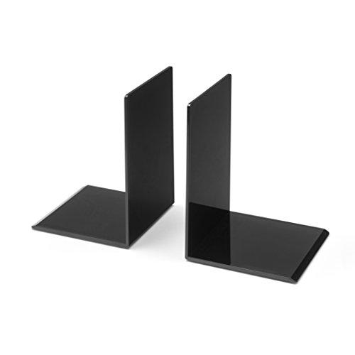 Wedo 102 1001 2-Piece Small Bookend Set Black