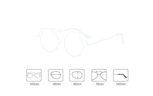 Harajuku moda de de X886 Lady Gafas Gafas QQB C coreanas B de Gafas sol retro Color gafas sol qgUfcqwv