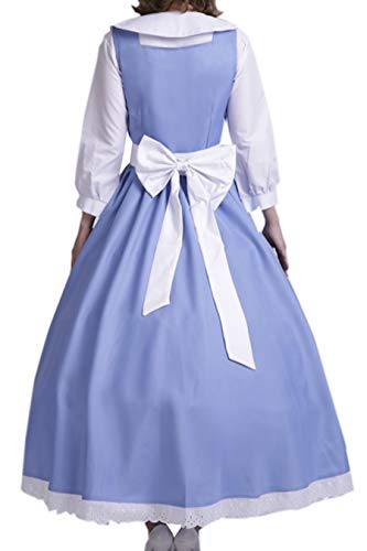 LYLAS Cosplay Costume Blue White Maid Gown Apron Dress (Female-S) -