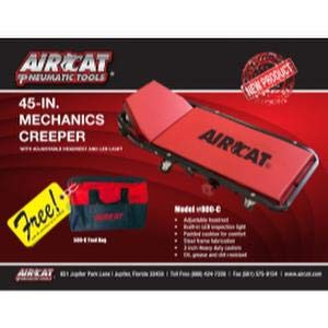 ACA800-C with Free Tool Bag AirCat Creeper with Adjustable headrest and LED Light ACA500-C