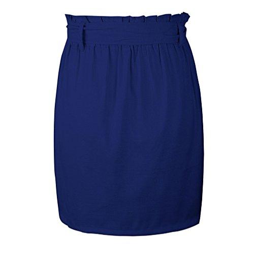 des Bleu Dcontract Raye Fonc Mi Une XL Ligne Longue Jupe S Femmes Taille Yying 7wq8C0