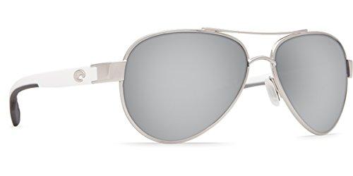 Costa Del Mar 580g LORETO Unizex Palladium Sunglasses, Gray Silver Mirror - Costas Loreto