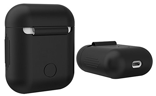 AirPods Case Lunies Protective Silicone Airpods Cover for Apple Airpod Charging Case Black