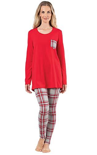 Addison Meadow Womens Christmas Pajamas - Christmas PJs Women, Red, M, 8-10