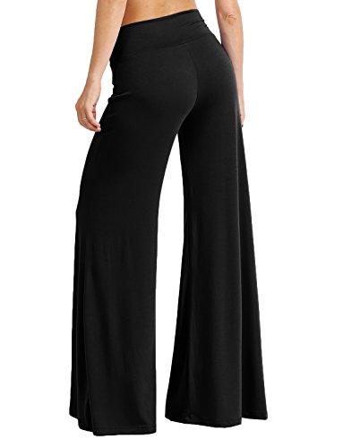 J. LOVNY Womens Basic High Waist Casual Palazzo Long Pants S-3XL