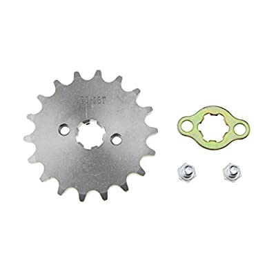WOOSTAR Front Sprocket 420-18T 17mm for Motorcycle: Automotive