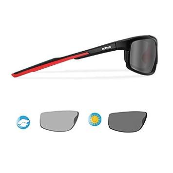 BERTONI P180FTC Gafas Fotocromatìcas Polarizadas para Deporte Motociclismo Bicicleta Golf Carrera Running Esqui Lentes antihumo (